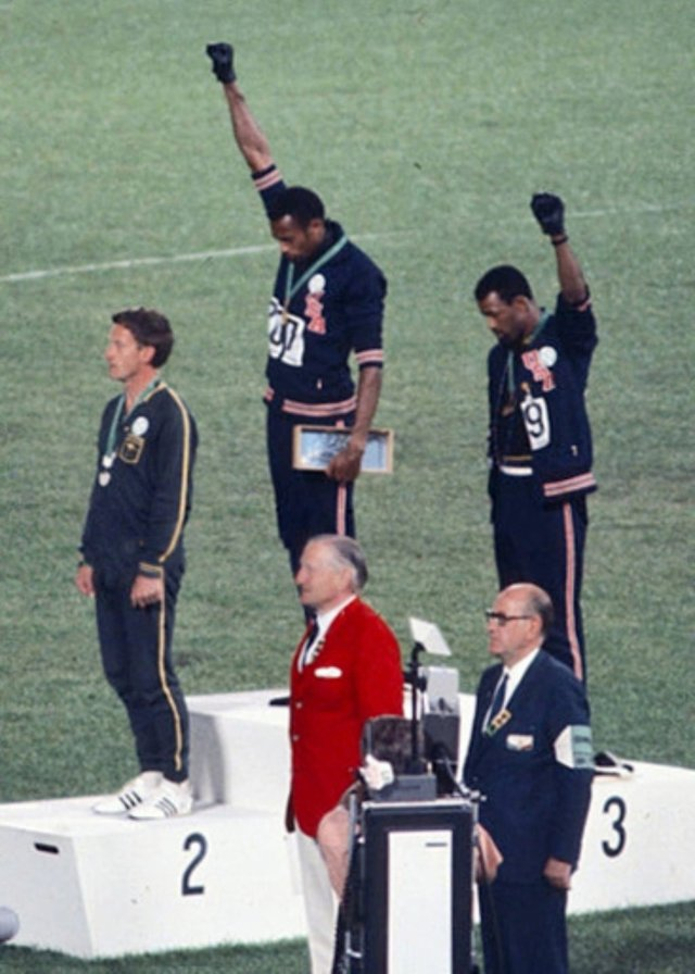 Black Panthers protest at the 1968 Olympics